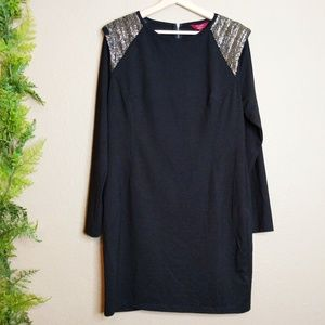 NWT Ted Baker Knit Dress Beaded Black Size 5 / 12